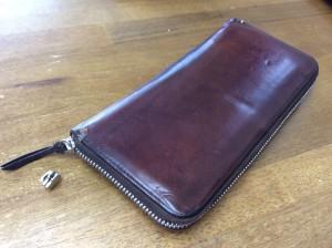 財布のファスナー・磨きアフター