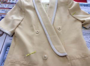 スーツの復元ビフォー