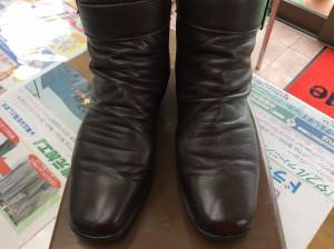 合成皮革ブーツアフター
