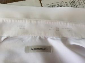 ワイシャツの襟のしみ抜きアフター
