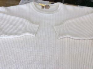 綿セーター黄ばみアフター