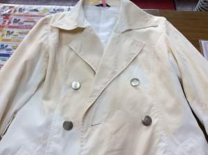 婦人綿ジャケットの復元ビフォー