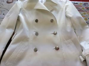 婦人綿ジャケットの復元アフター