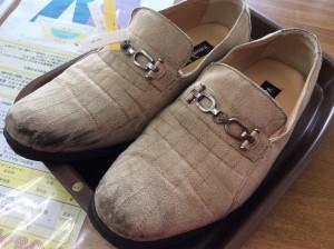 スエード紳士靴のクリーニングビフォー