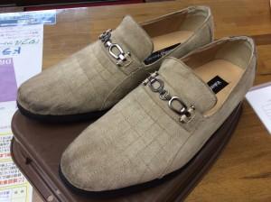 スエード紳士靴のクリーニングアフター