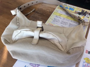 婦人皮革バッグアフター