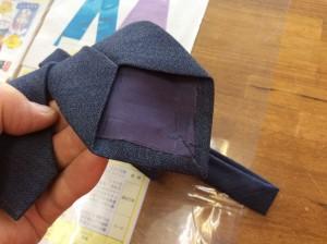ネクタイの擦り切れ修理アフター