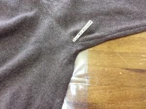 カシミヤセーターの破れアフター