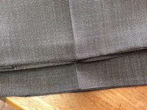 スラックスの裾擦り切れアフター