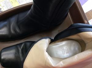 ブーツの中敷交換アフター