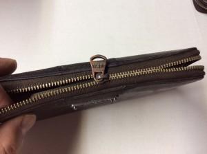 財布のファスナー修理ビフォー