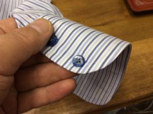 ワイシャツの袖ボタン修理アフター