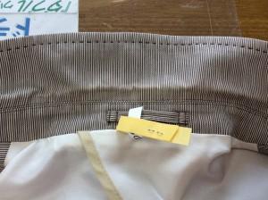 紳士綿ジャケットの黄ばみ処理ビフォー