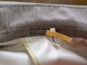 紳士綿ジャケットの黄ばみ処理アフター