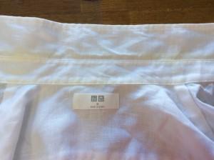 綿ブラウスの黄ばみ処理ビフォー