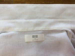 綿ブラウスの黄ばみ処理アフター