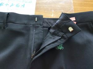 学生ズボンのファスナー取替えアフター