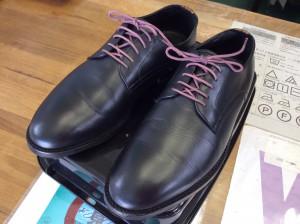 紳士革靴のカビ処理アフター