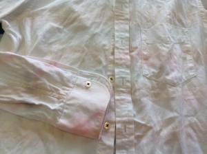 ワイシャツの色移りビフォー