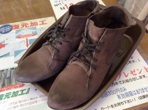 ブーツのカビ処理ビフォー