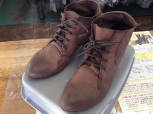 ブーツのカビ処理アフター