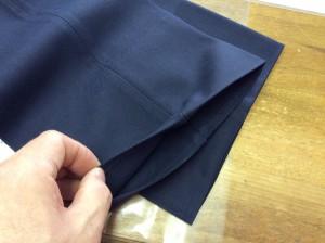 学生スラックスの裾すり切れアフター
