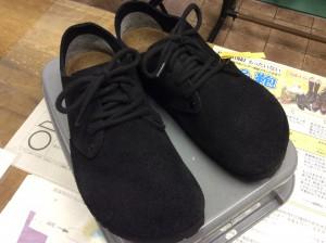 スエード婦人靴のカビアフター
