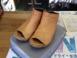 婦人革靴クリーニングアフター