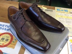 紳士革靴カビ  アフター