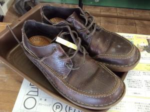 紳士革靴お手入れビフォー
