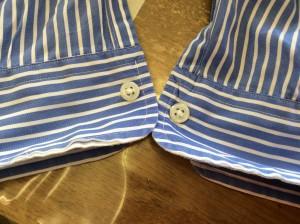 ワイシャツ袖口擦り切れ修理ビフォー