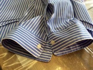ワイシャツ袖口擦り切れ修理アフター