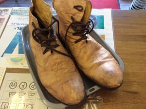 紳士ブーツのクリーニングビフォー