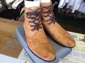 紳士ブーツのクリーニングアフター