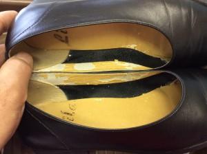 婦人革靴のメンテナンスビフォー