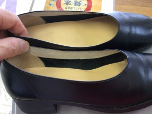婦人革靴のメンテナンスアフター