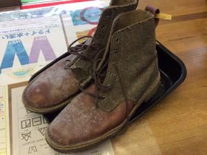 ブーツのカビクリーニングビフォー