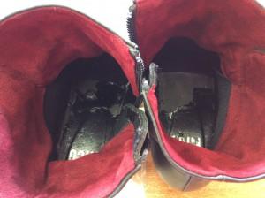 ブーツの中敷交換ビフォー
