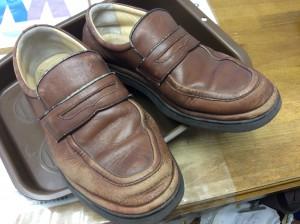 紳士革靴のリメイクビフォー