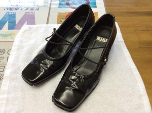 エナメル婦人靴のメンテナンスアフター