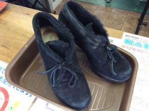 スエード婦人靴クリーニングビフォー