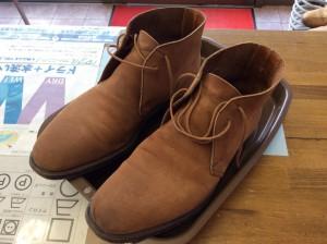ヌバック紳士靴のカビビフォー