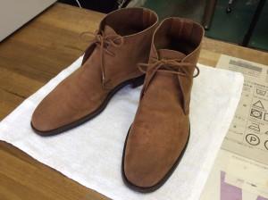 ヌバック紳士靴のカビアフター