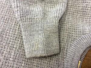 セーター虫食い穴修理アフター