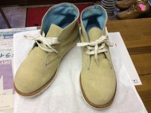 スエード紳士靴汚れアフター