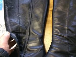 ブーツ内側のカビビフォー