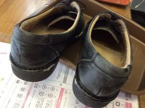 合成皮革紳士靴の劣化ビフォー