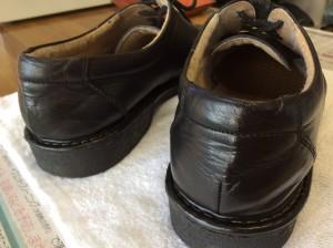 合成皮革紳士靴の劣化アフター