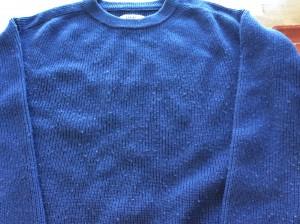 セーターの毛玉取りビフォー