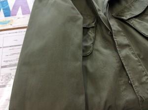 綿ジャケットの油性ジミアフター